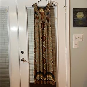 Beautiful fall maxi dress size medium